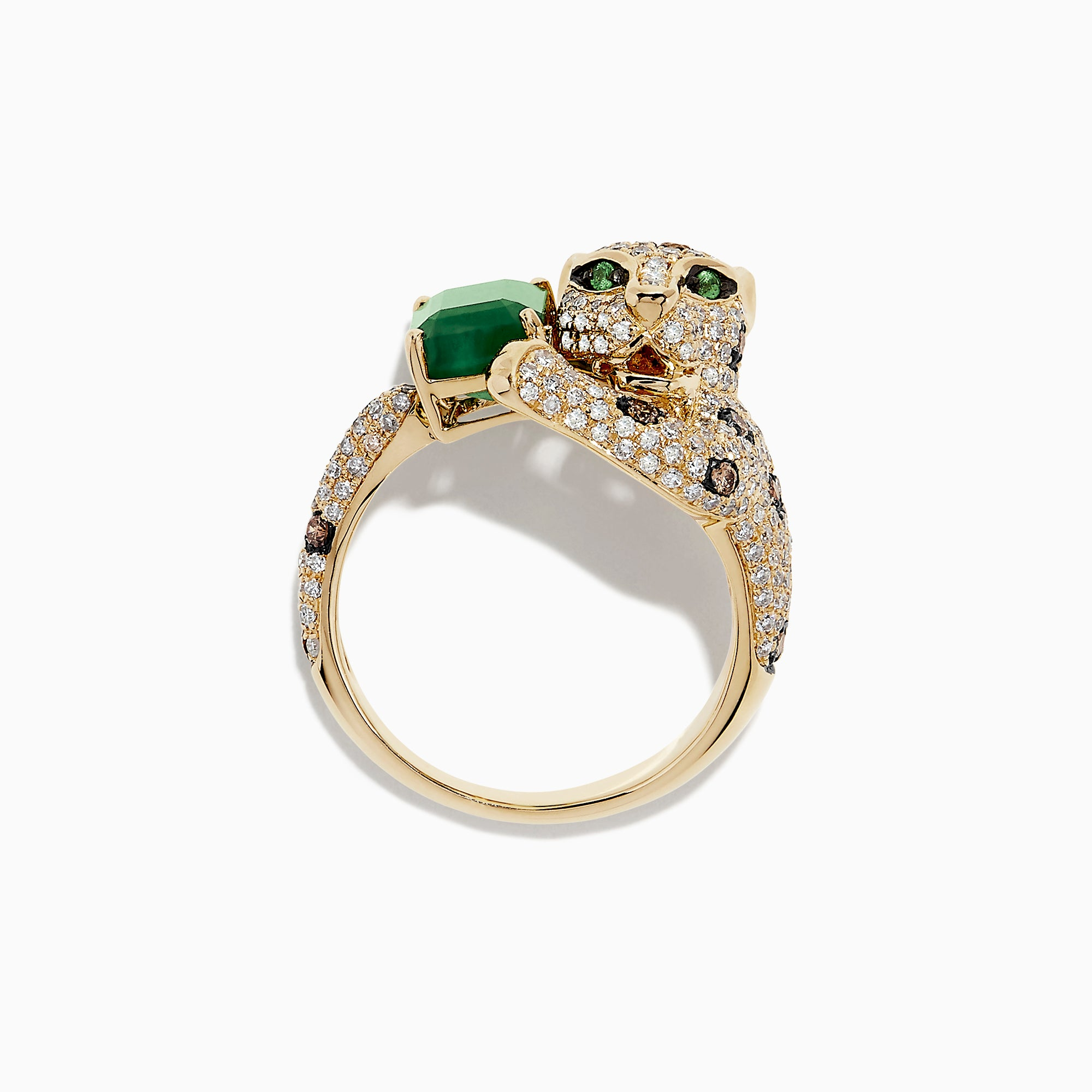 Effy Signature 14K Yellow Gold Emerald and Diamond Ring, 2.55 TCW