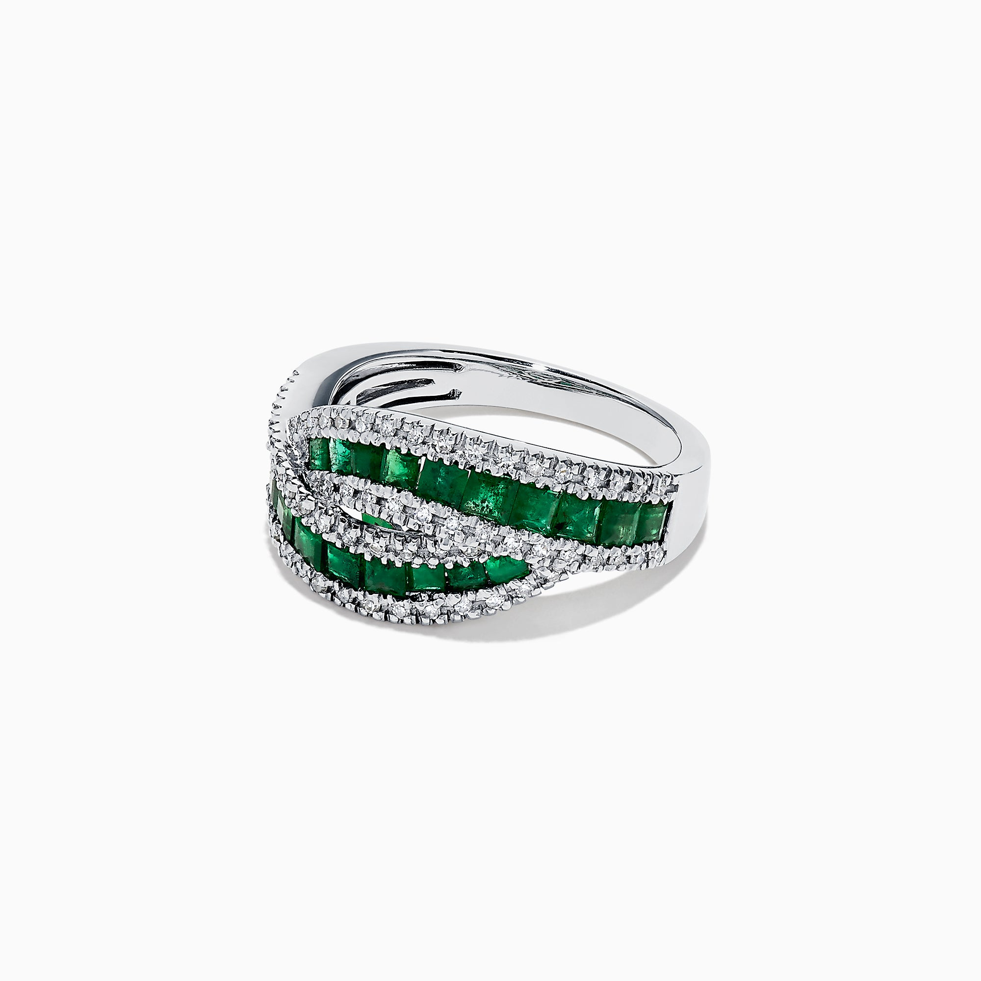 Effy Brasilica 14K White Gold Emerald and Diamond Ring, 1.76 TCW