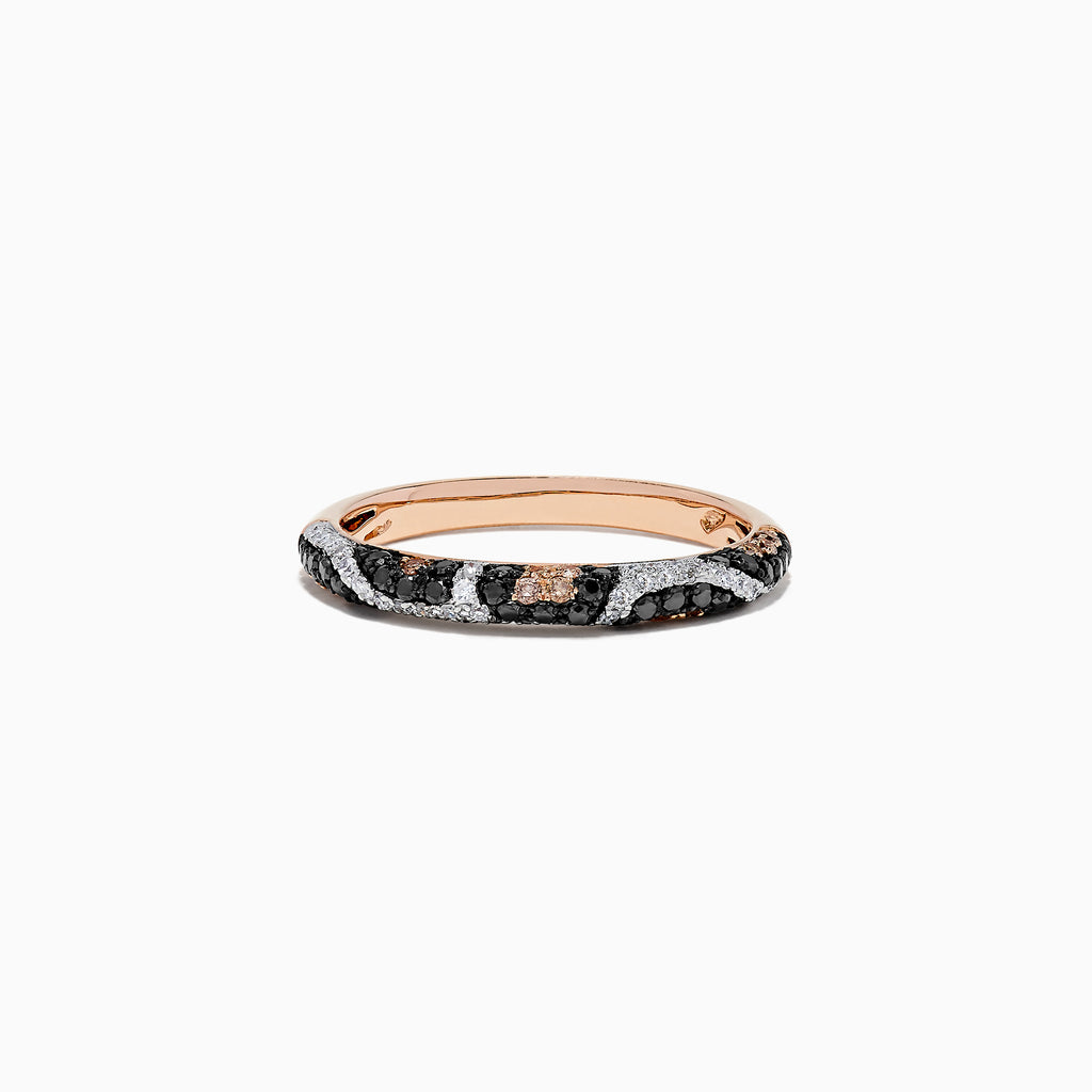 Effy 14K Rose Gold Diamond Leopard Spot Ring, 0.47 TCW