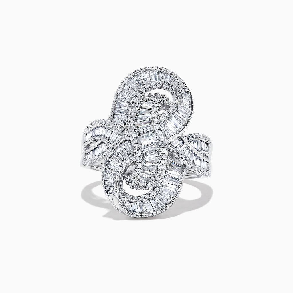 Effy Classique 14K White Gold Diamond Knot Ring, 1.67 TCW