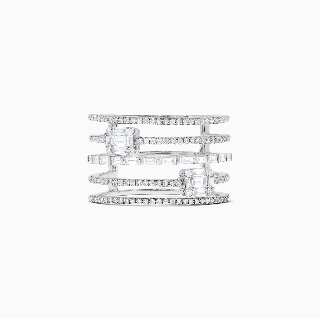 Effy Classique 14K White Gold Diamond Ring, 0.77 TCW