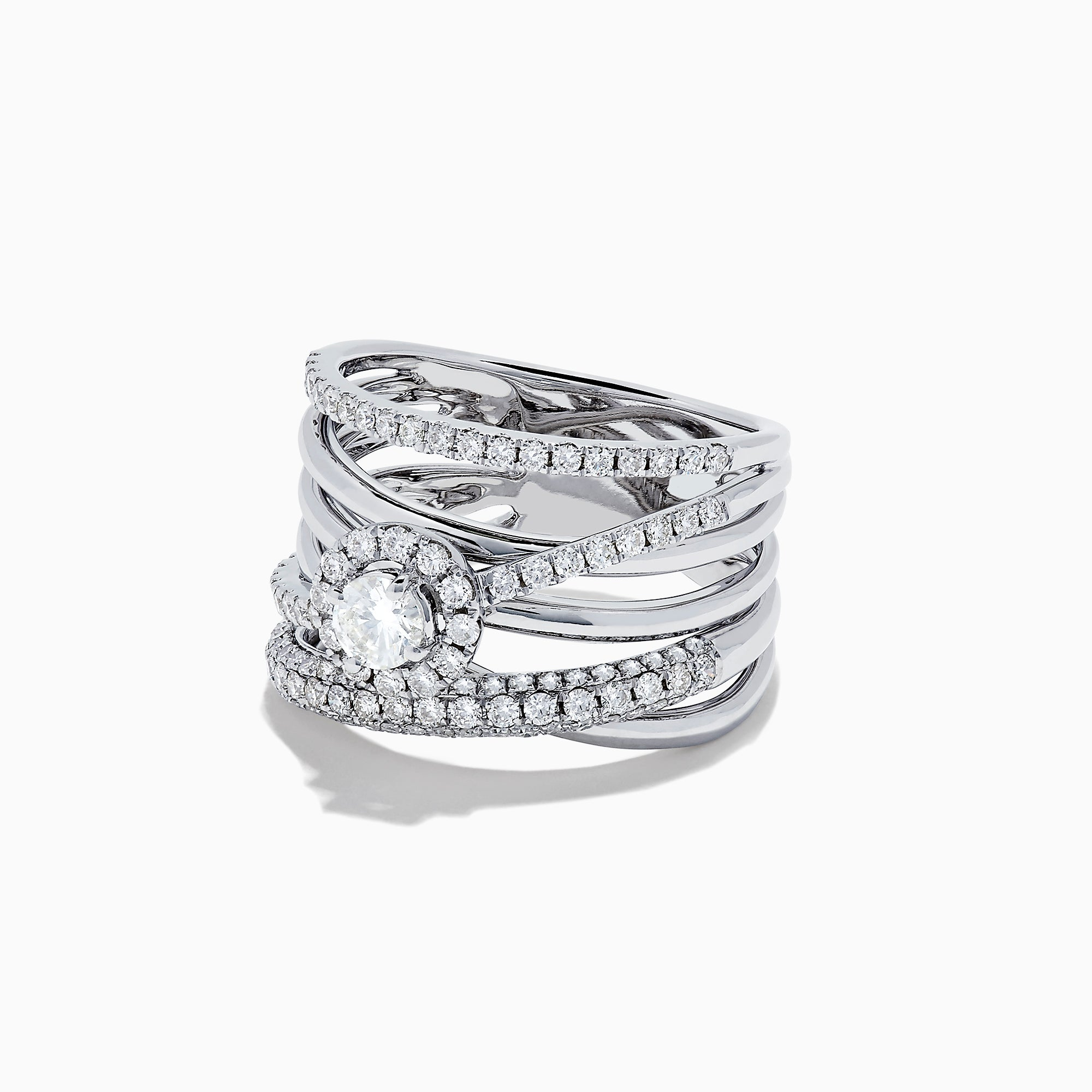 Effy Pave Classica 14K White Gold Diamond Ring, 1.12 TCW