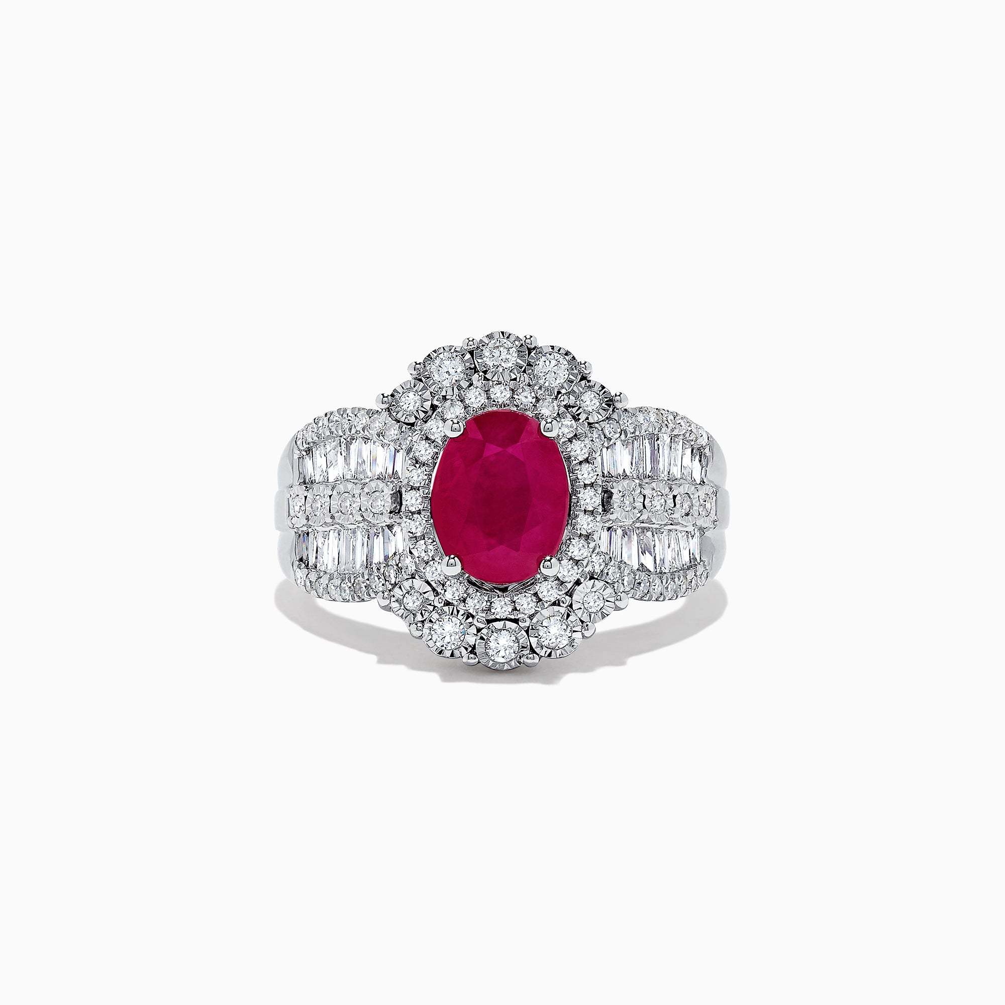Effy Ruby Royale 14K White Gold Ruby and Diamond Ring, 2.14 TCW