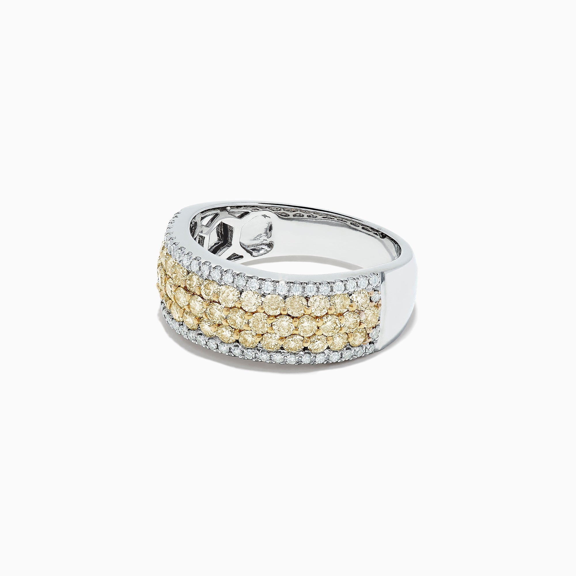 Effy Canare 14K Two Tone Gold Yellow and White Diamond Ring, 1.26 TCW