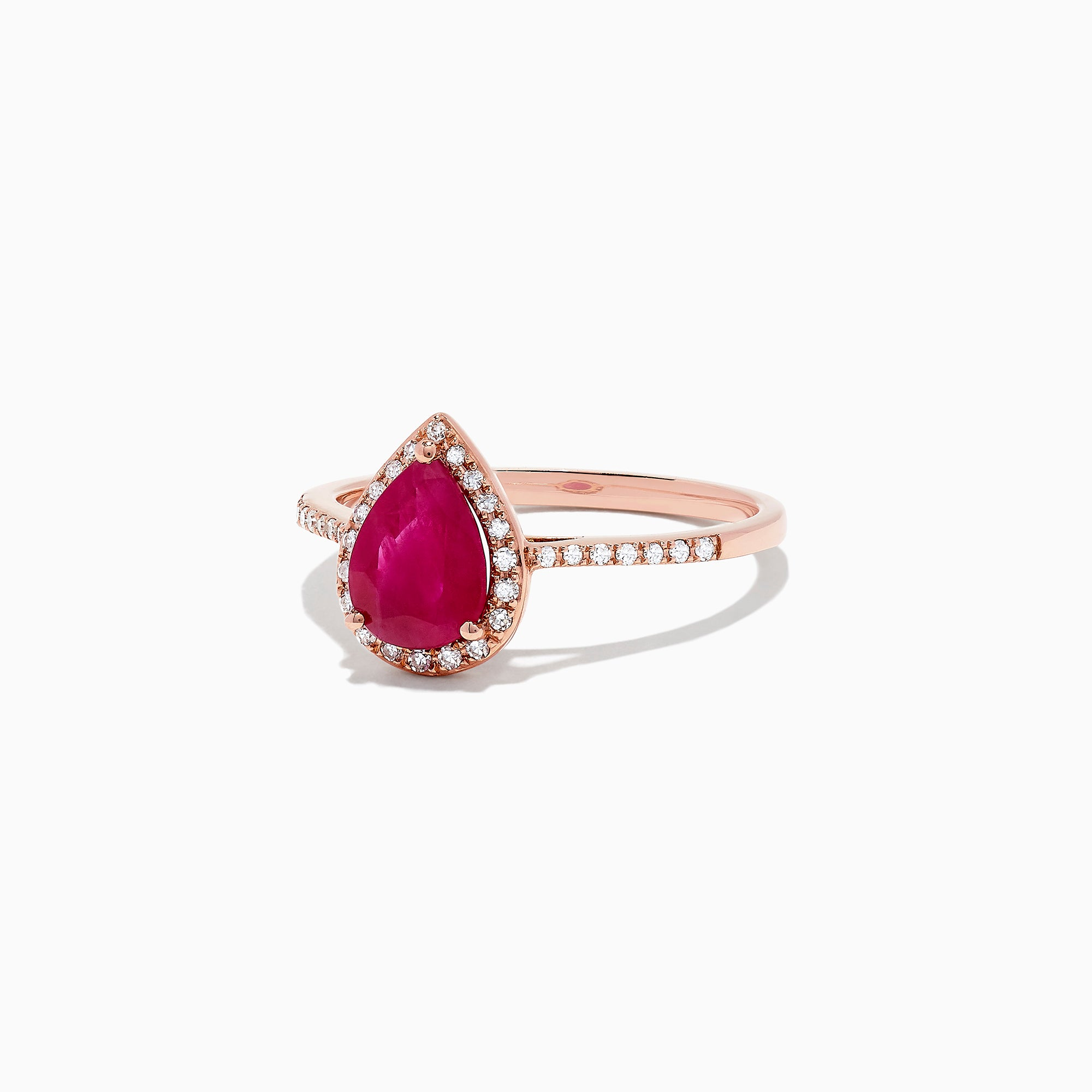 Effy Ruby Royale 14K Rose Gold Ruby and Diamond Ring, 1.10 TCW
