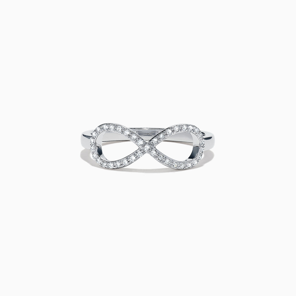 Effy Kidz 14K White Gold Diamond Infinity Ring, 0.13 TCW