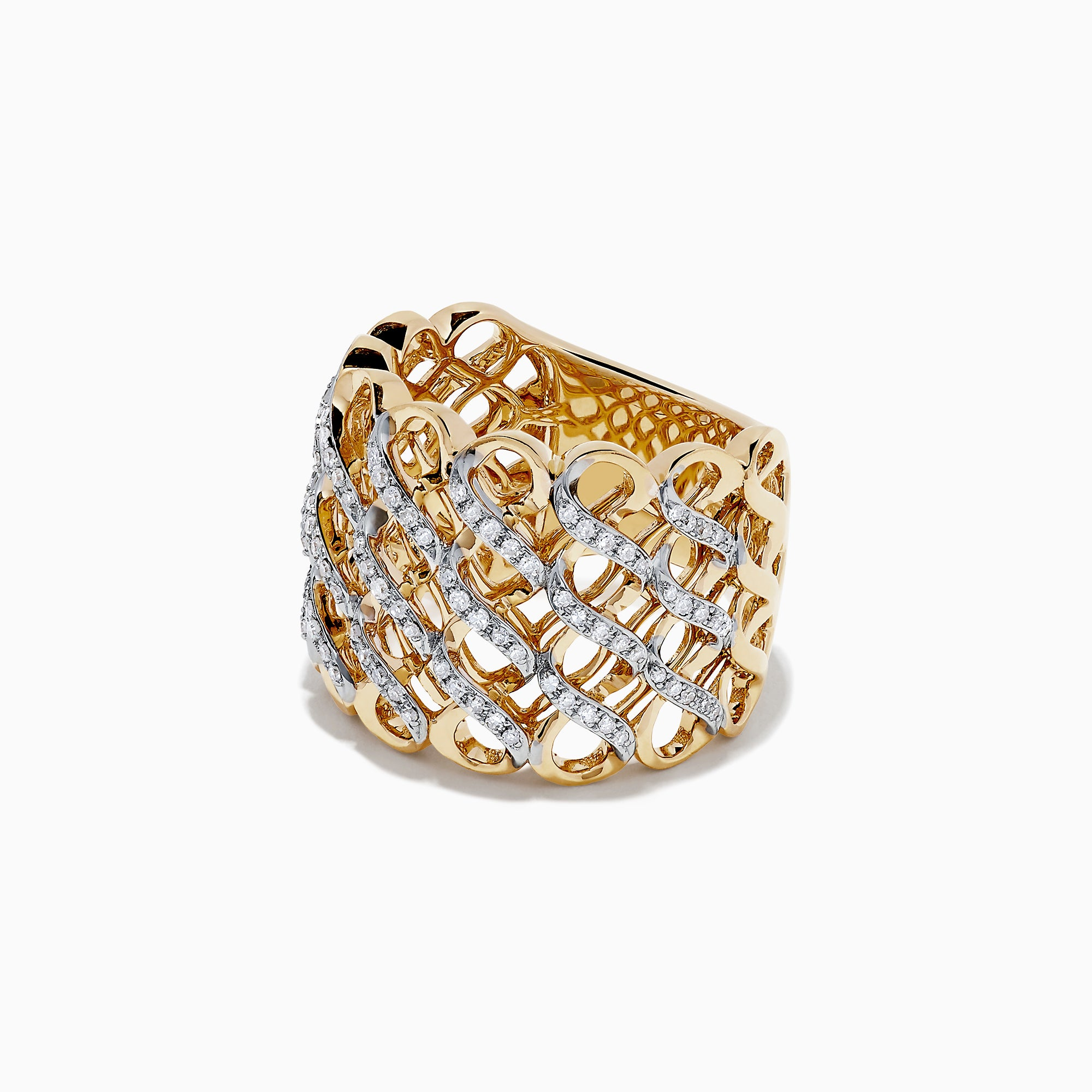 Effy 14K Yellow Gold Diamond Ring, 0.39 TCW