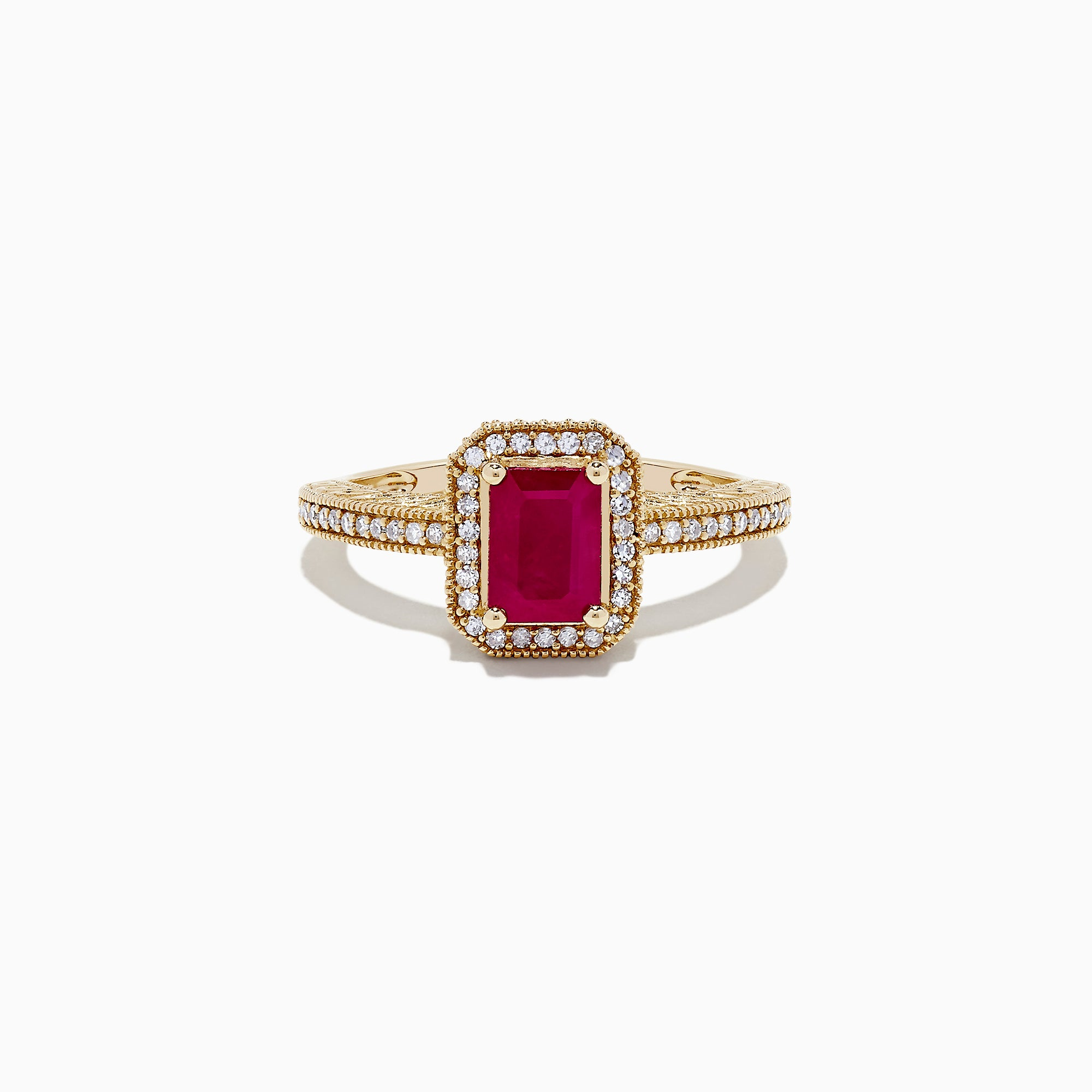 Effy Ruby Royale 14K Yellow Gold Ruby and Diamond Ring, 1.36 TCW