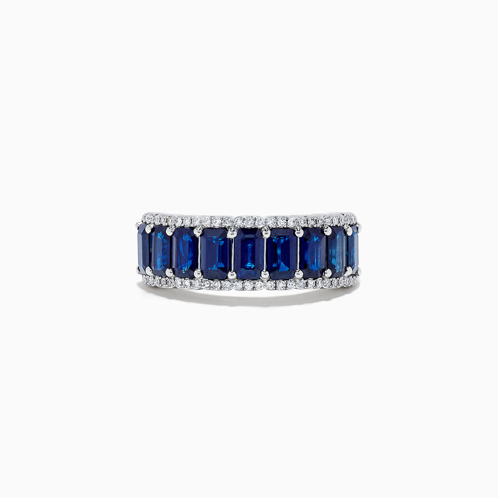 Effy Royale Bleu 14K White Gold Sapphire and Diamond Ring, 3.58 TCW