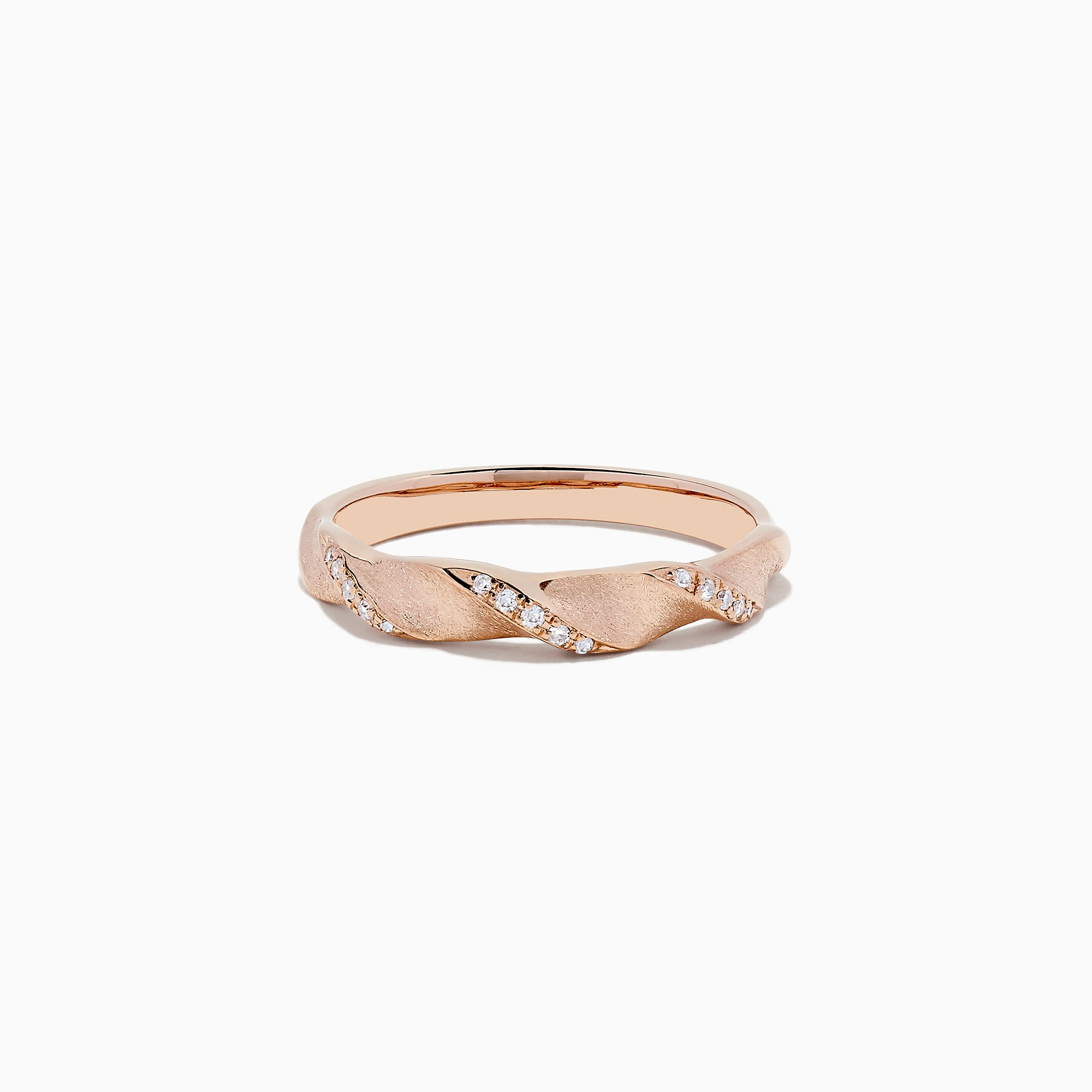 Effy 14K Rose Gold Diamond Twist Ring, 0.07 TCW