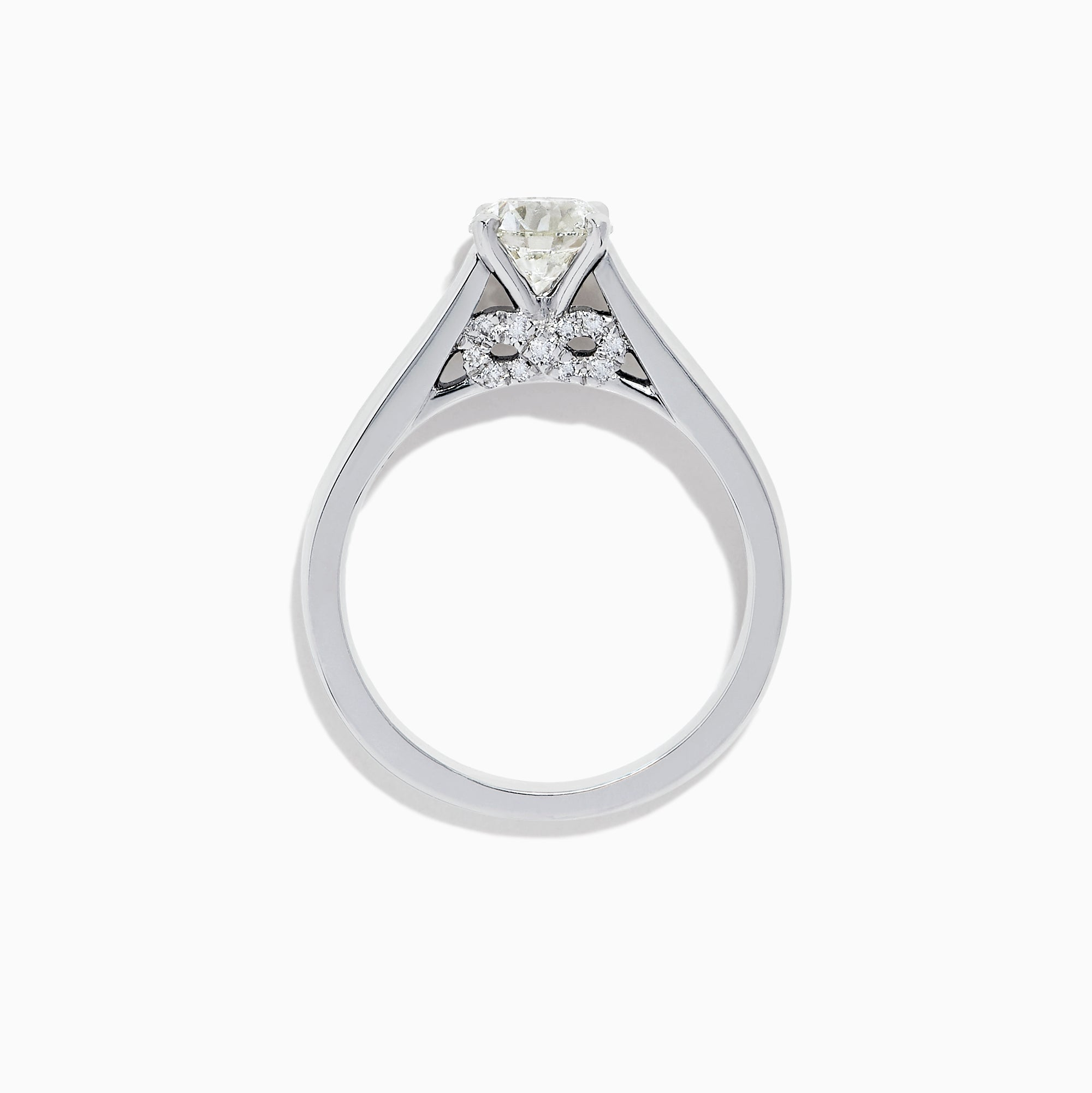 Effy Bridal 18K White Gold Diamond Solitaire Ring, 1.08 TCW