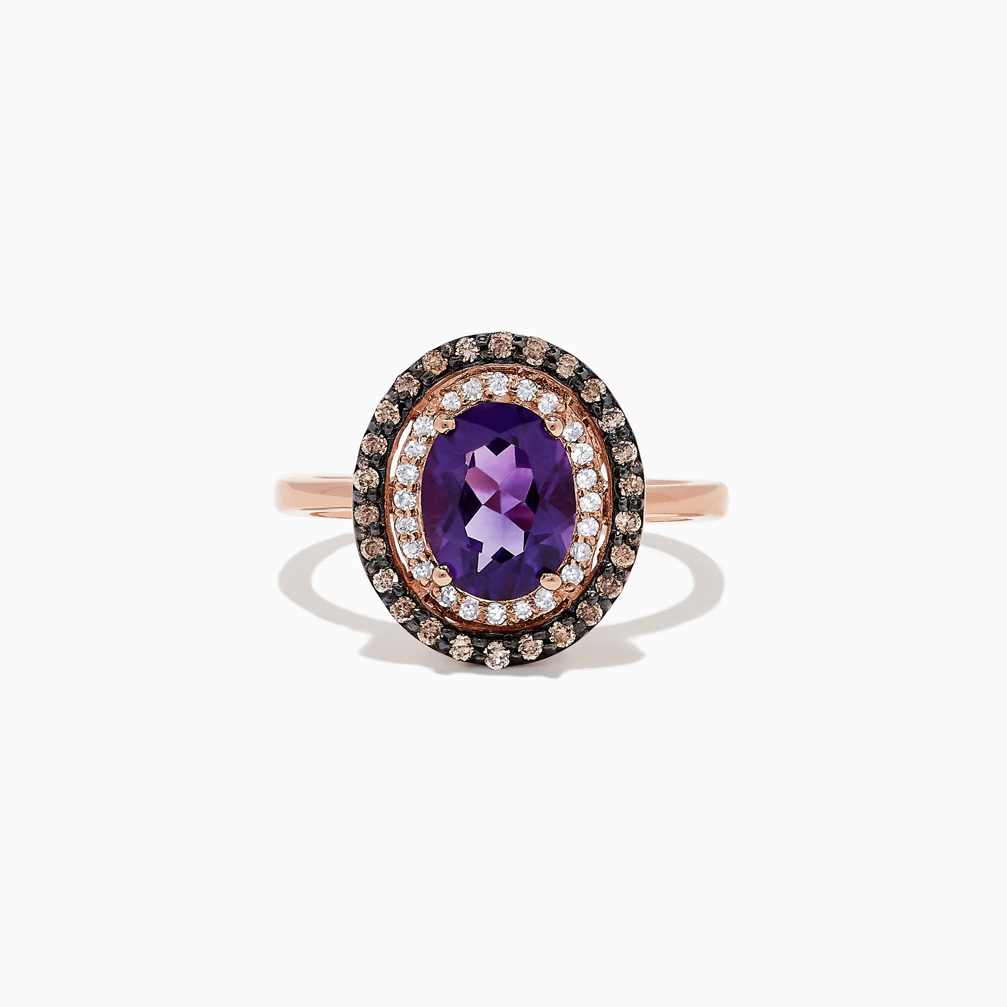 Effy 14K Rose Gold Amethyst and Diamond Ring, 1.82 TCW