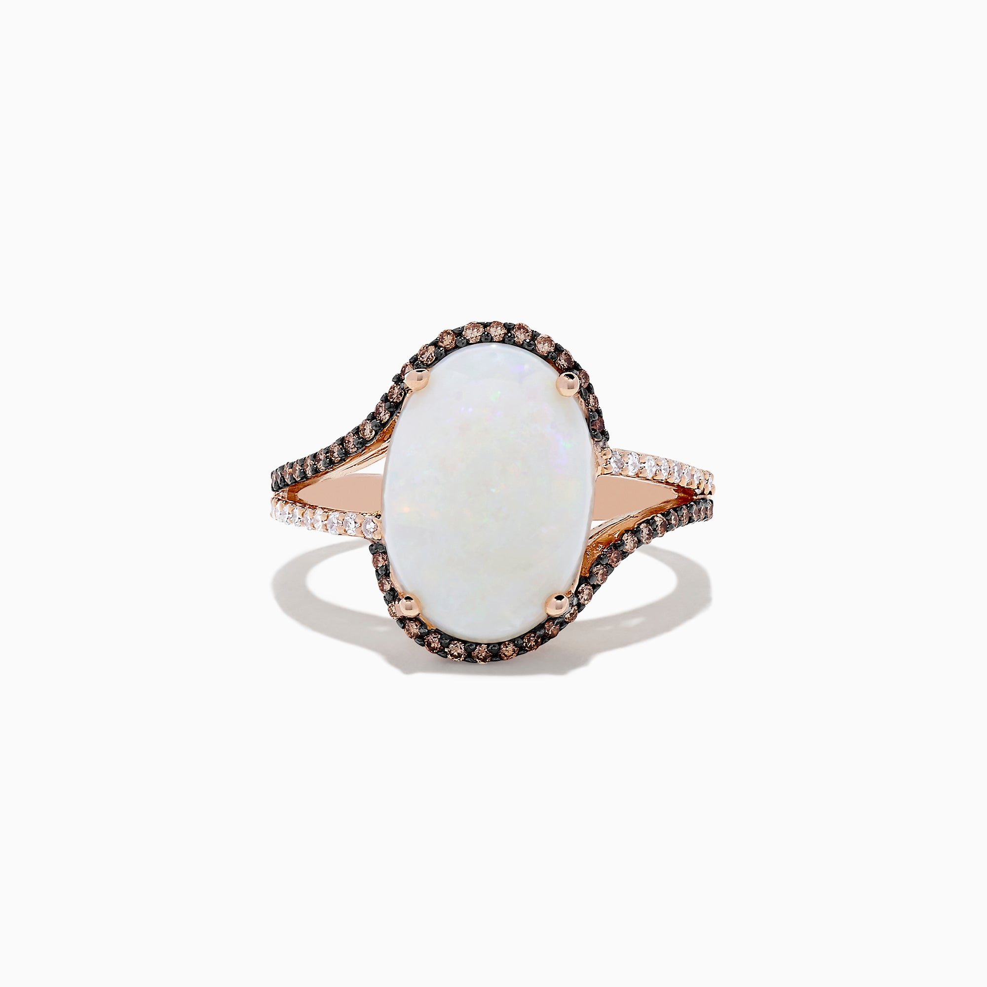 Effy 14K Rose Gold Opal and Diamond Ring, 4.00 TCW