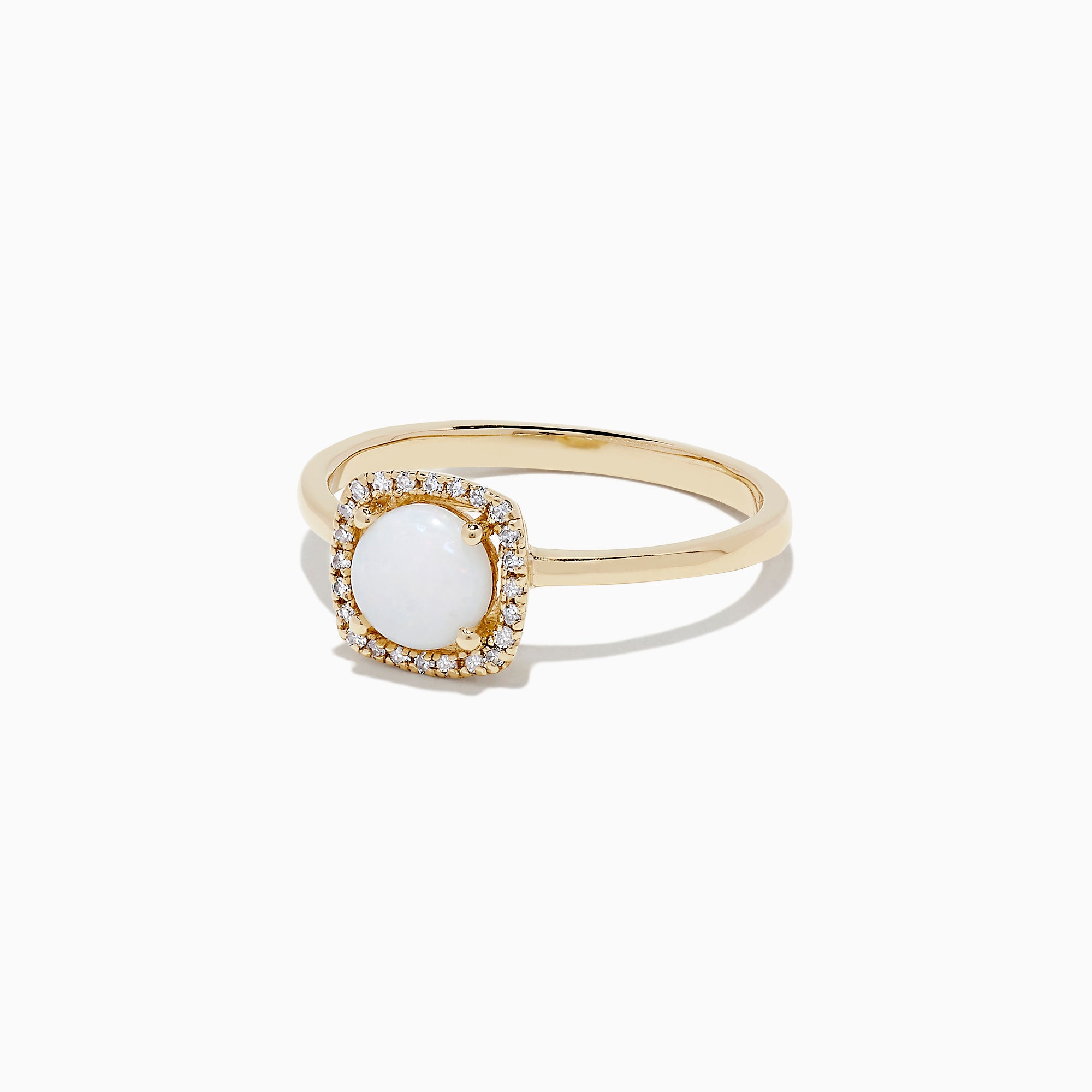 Effy Aurora 14K Yellow Gold Opal and Diamond Ring, 0.62 TCW