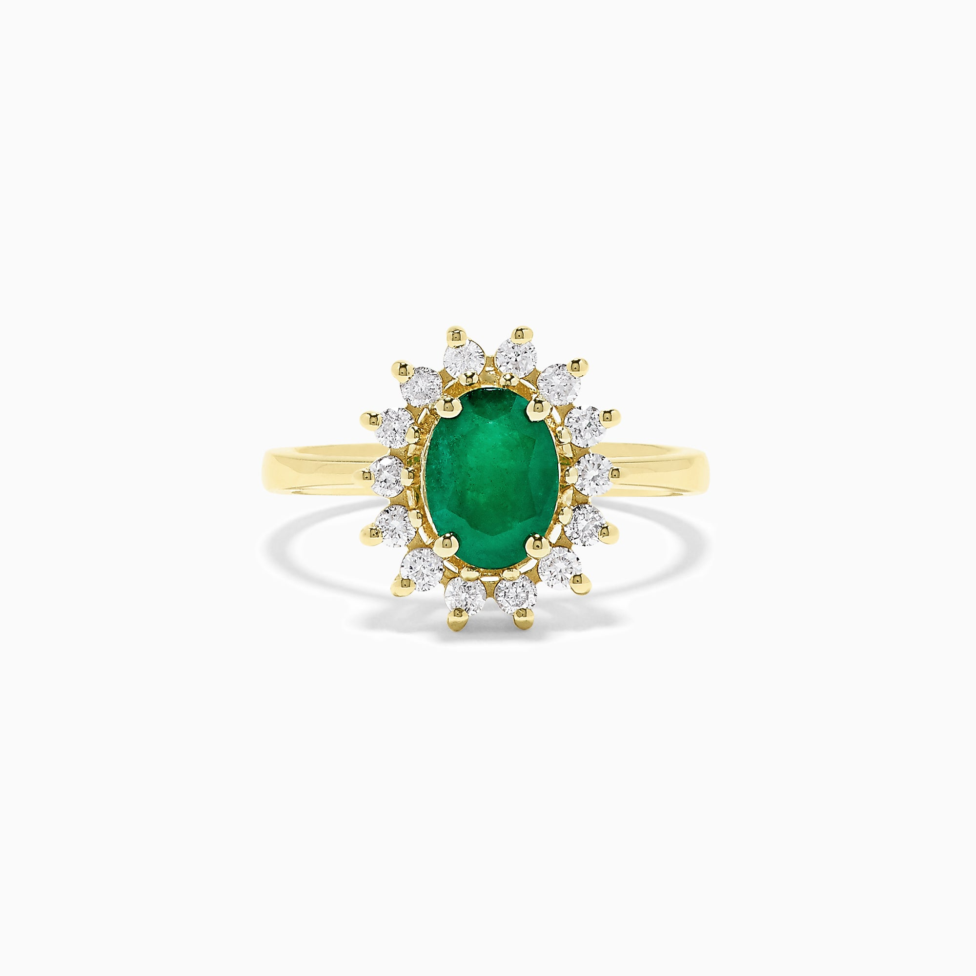 Effy 14K Yellow Gold Emerald and Diamond Ring, 1.48 TCW