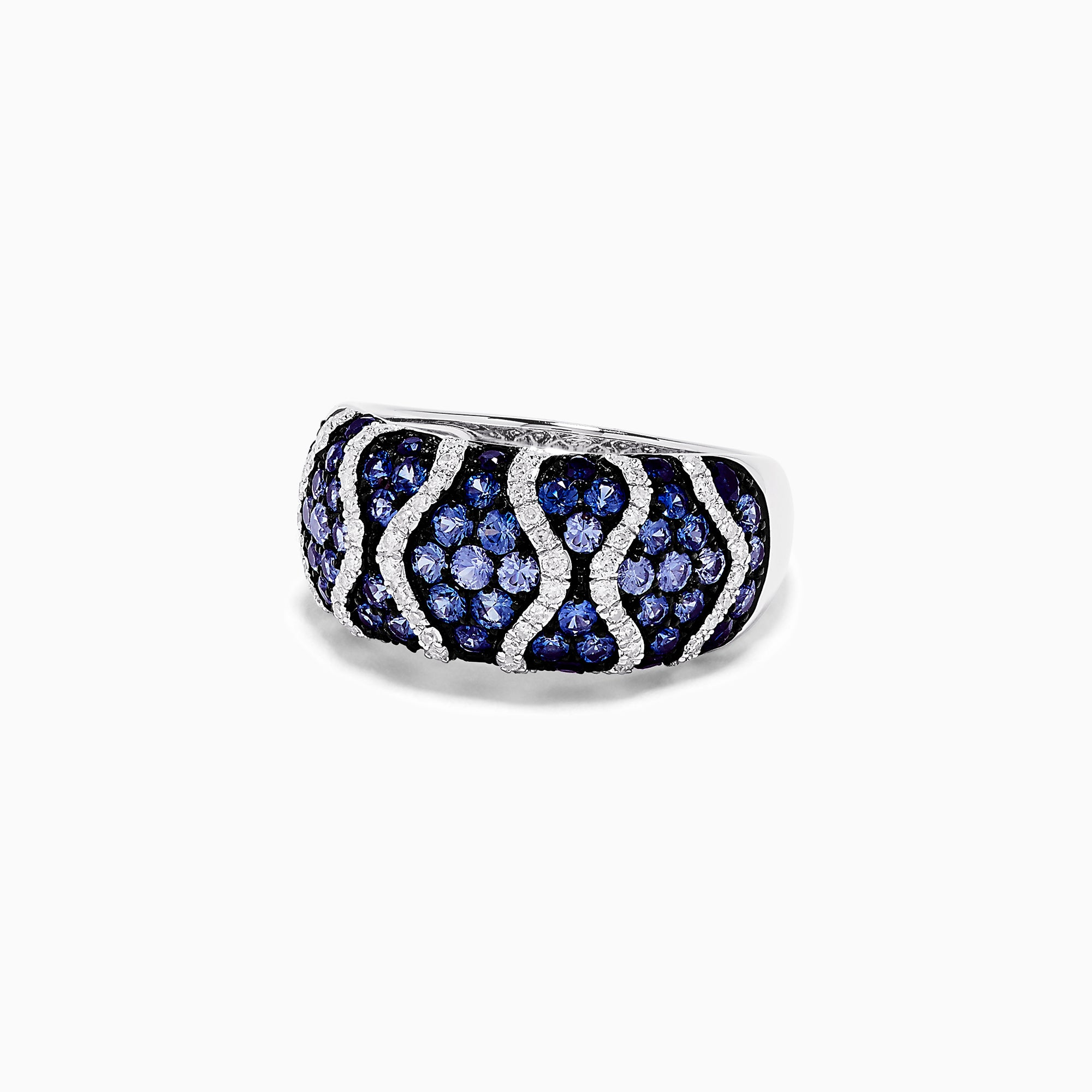 Effy 14K White Gold Blue Sapphire and Diamond Ring, 1.89 TCW
