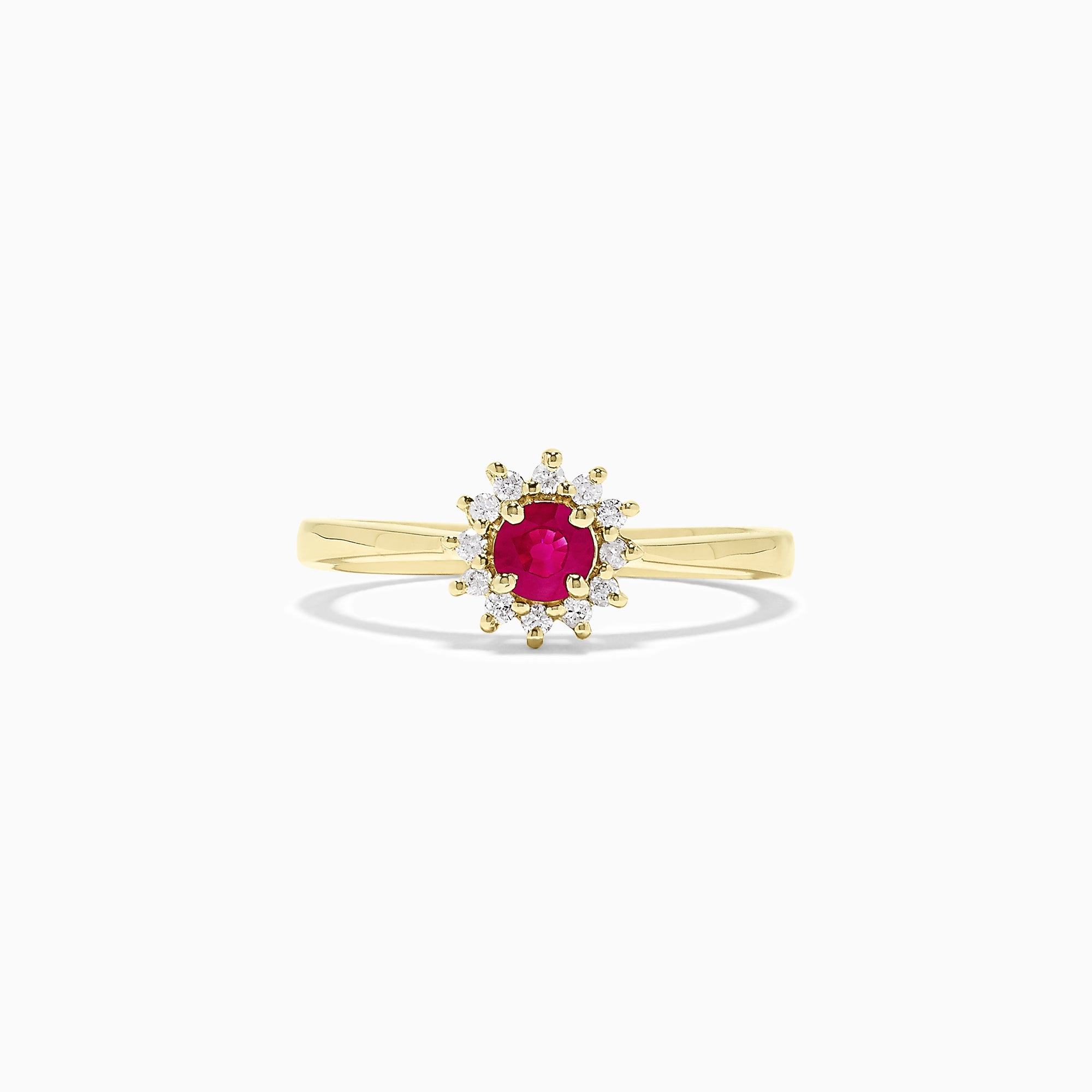 Effy 14K Yellow Gold Ruby and Diamond Ring, 0.44 TCW
