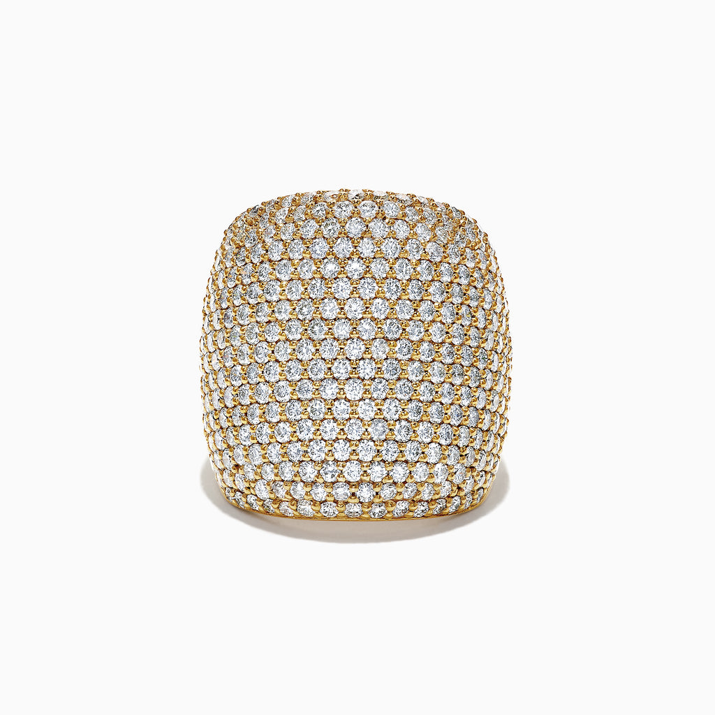 Effy D'Oro 14K Yellow Gold Diamond Ring, 4.05 TCW