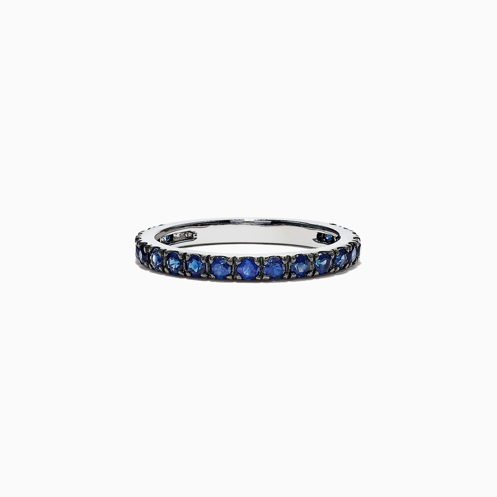 Effy Royale Bleu 14K White Gold Blue Sapphire Band Ring, 0.99 TCW