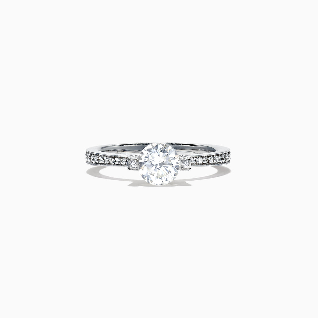 Effy Bridal 18K White Gold Diamond Solitaire Ring, 1.22 TCW