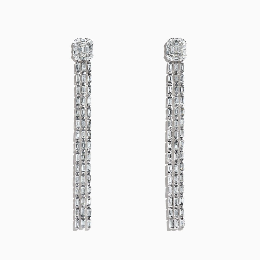 Effy Classique 14K White Gold Diamond Fringe Earrings, 3.81 TCW