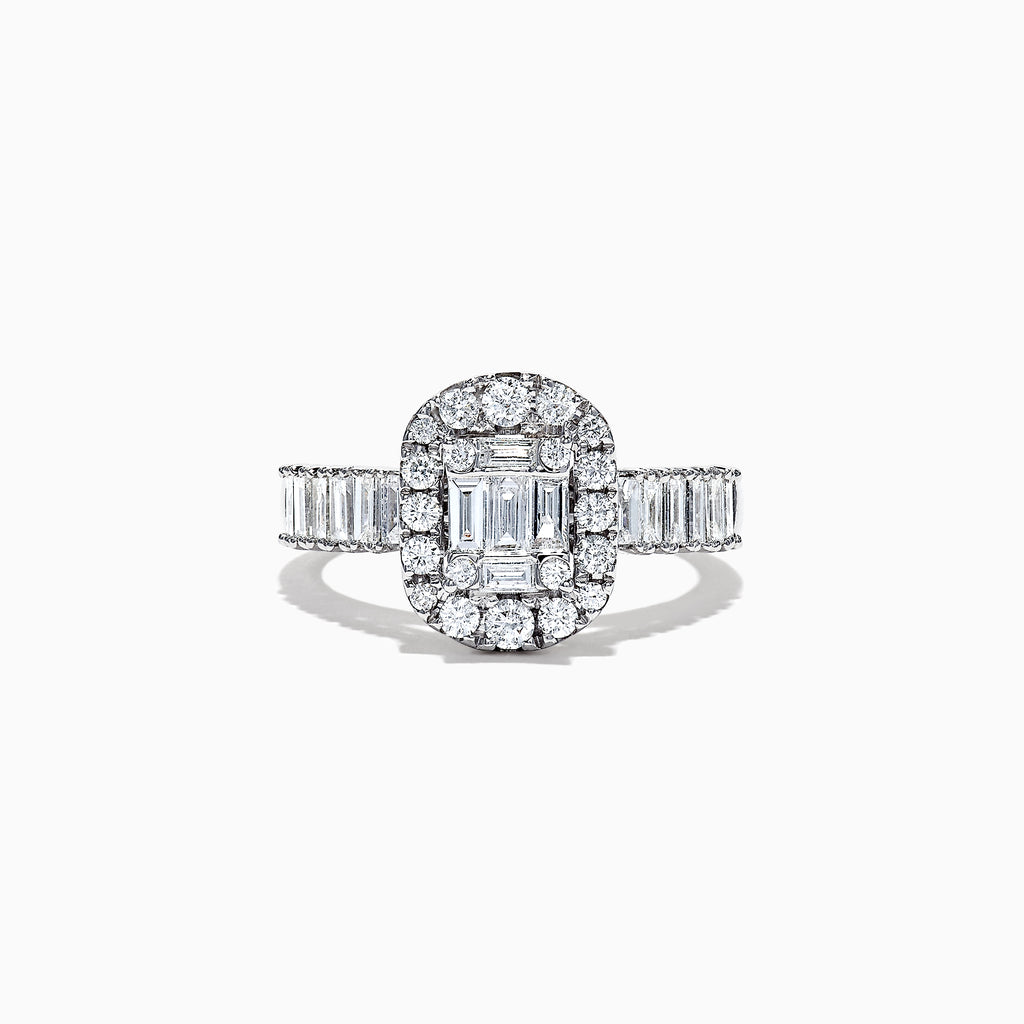 Effy Classique 14K White Gold Diamond Ring, 1.21 TCW