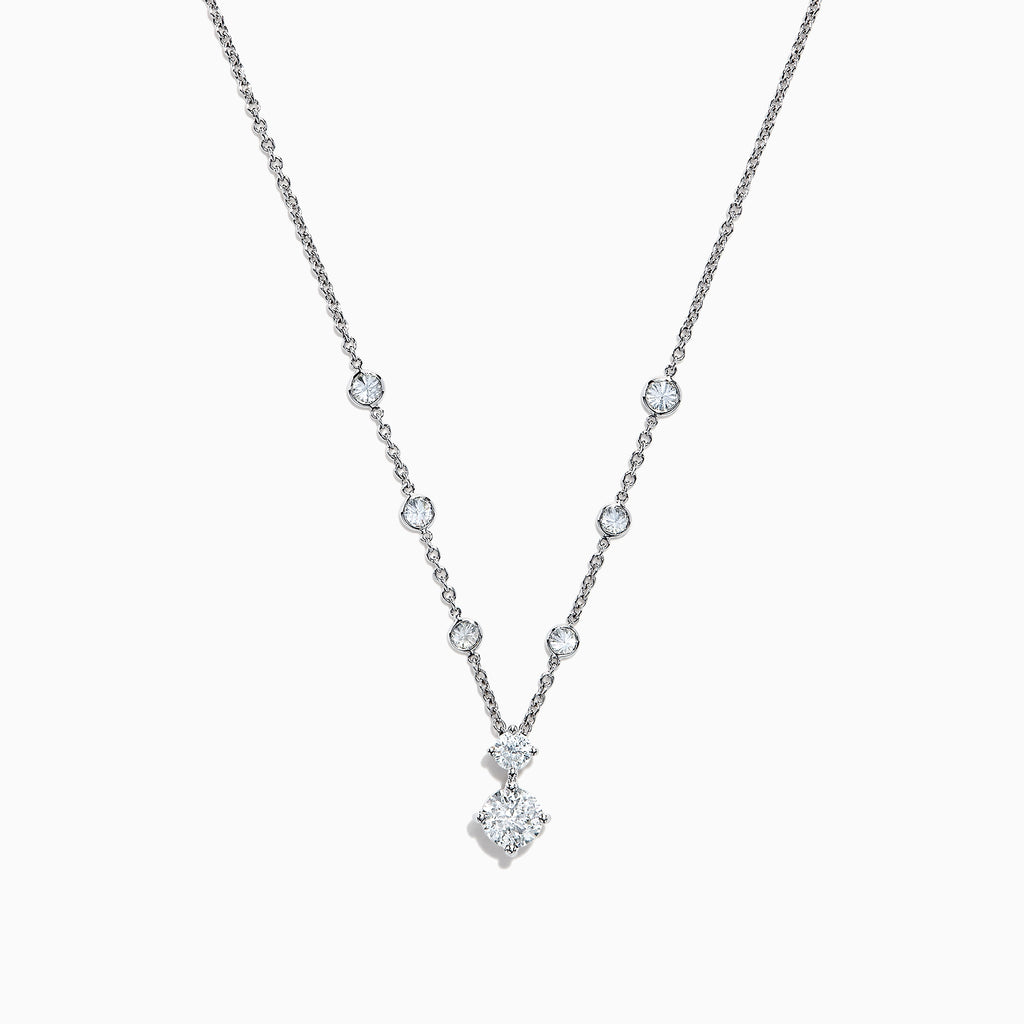 Effy Pave Classica 14K White Gold Diamond Necklace, 0.91 TCW