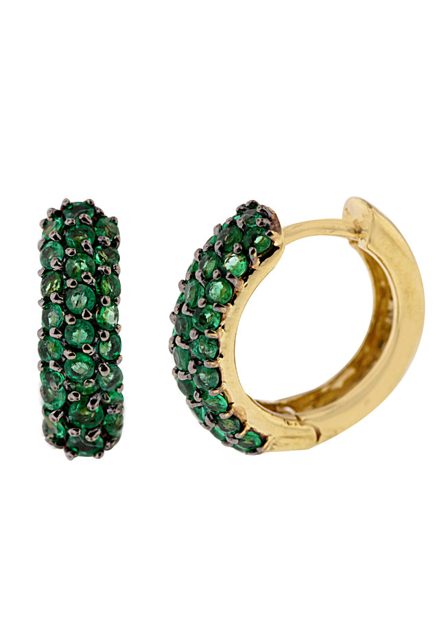Gemma 14K Yellow Gold Emerald Earrings, 1.31 TCW