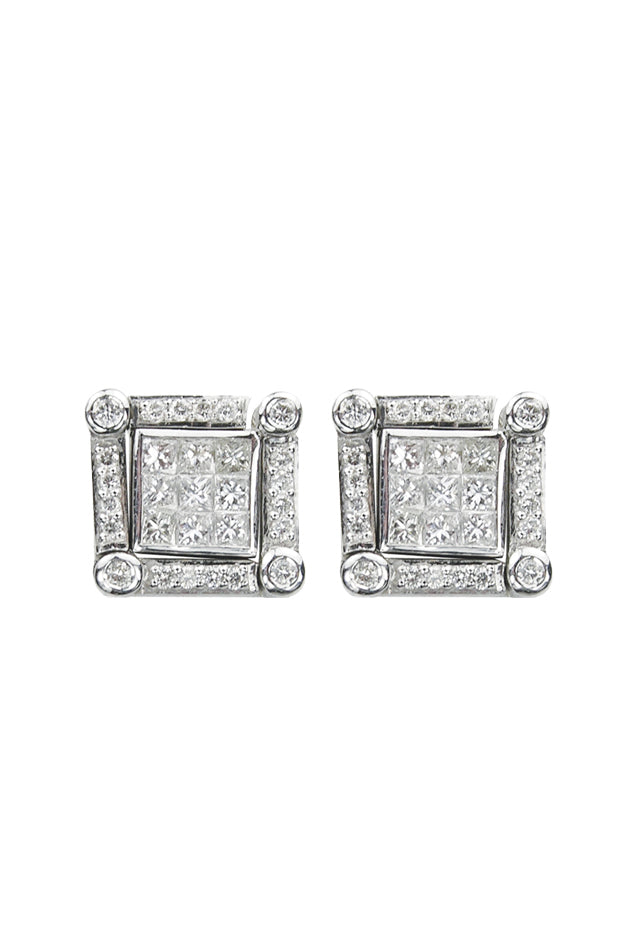 DiVersa Diamond Earrings, .98 TCW