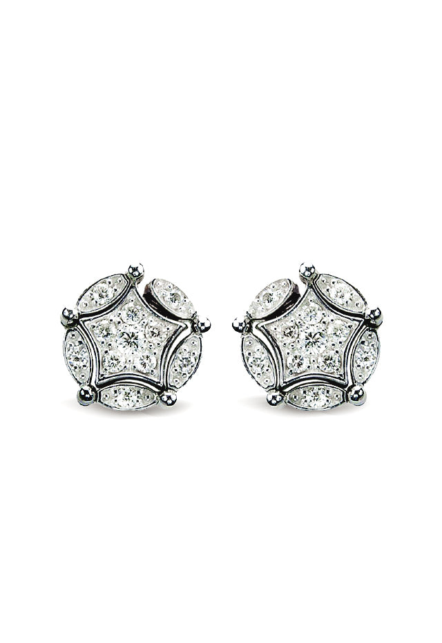 Effy DiVersa Sterling Silver Diamond Earrings, 0.17 TCW
