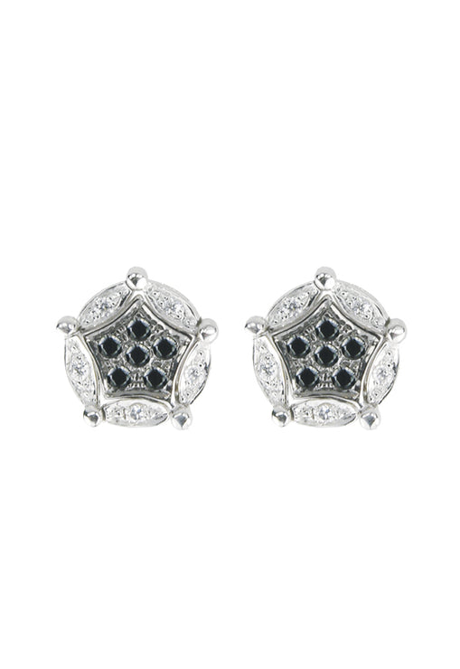 DiVersa Black and White Diamond Earrings, .20 TCW