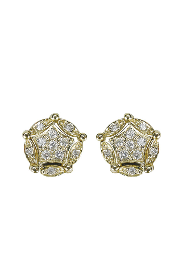 Effy Diversa 14K Yellow Gold Diamond Two-Way Earrings, 0.20 TCW