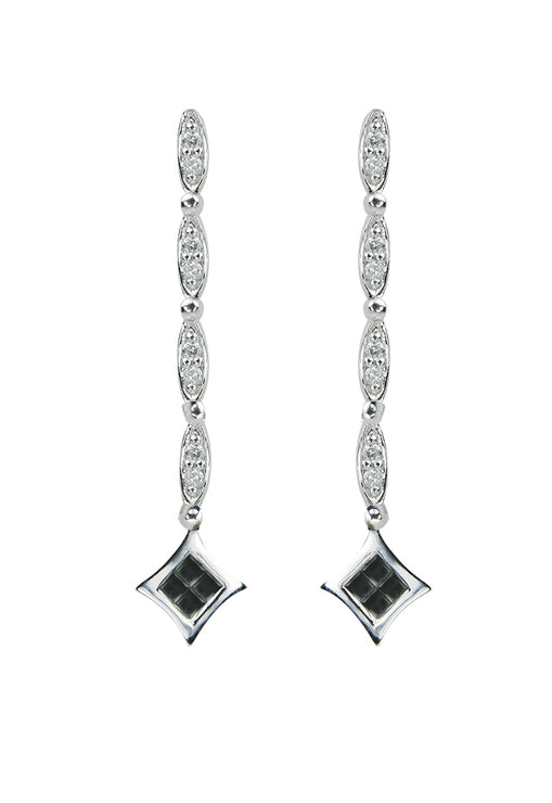 DiVersa Black and White Diamond Earrings, .50 TCW