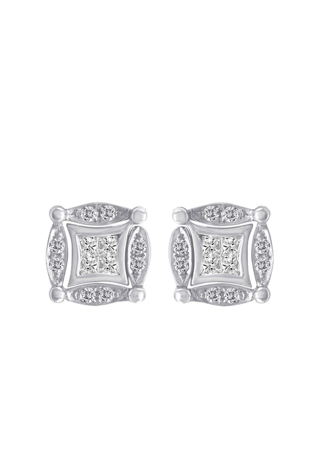 Diversa 14K White Gold Diamond Earrings, 0.50 TCW