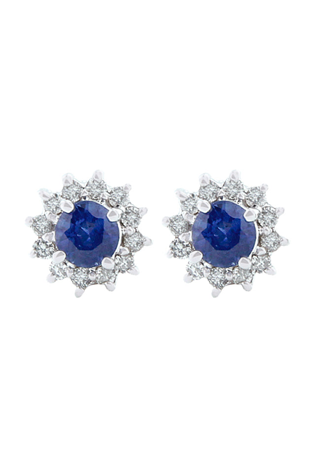 Gemma Royalty Sapphire and Diamond Earrings, 0.89 TCW