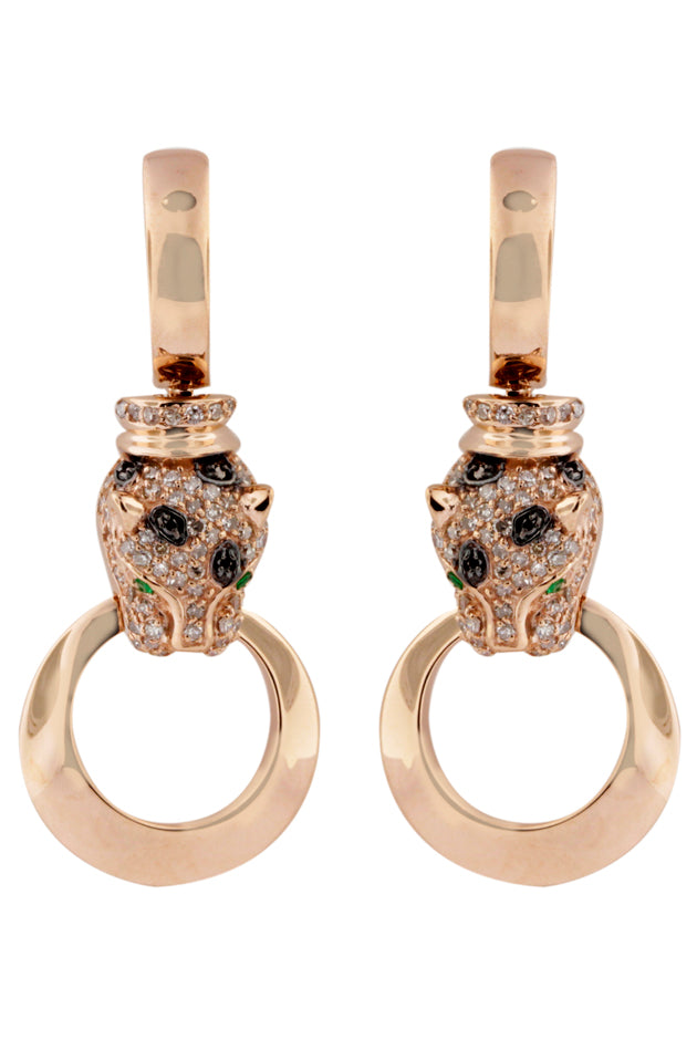Effy Signature 14K Rose Gold Diamond and Emerald Earrings, 0.80 TCW