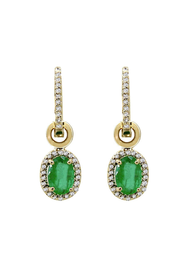 Effy Brasilica 14K Yellow Gold Emerald and Diamond Earrings, 1.78 TCW