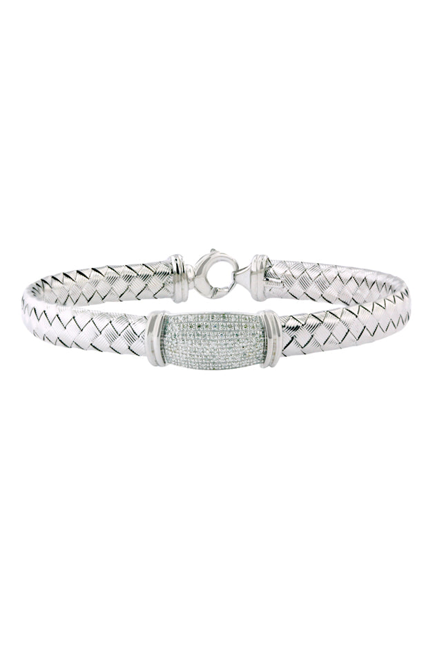 Effy 925 Sterling Silver and Diamond Bracelet, .24 TCW