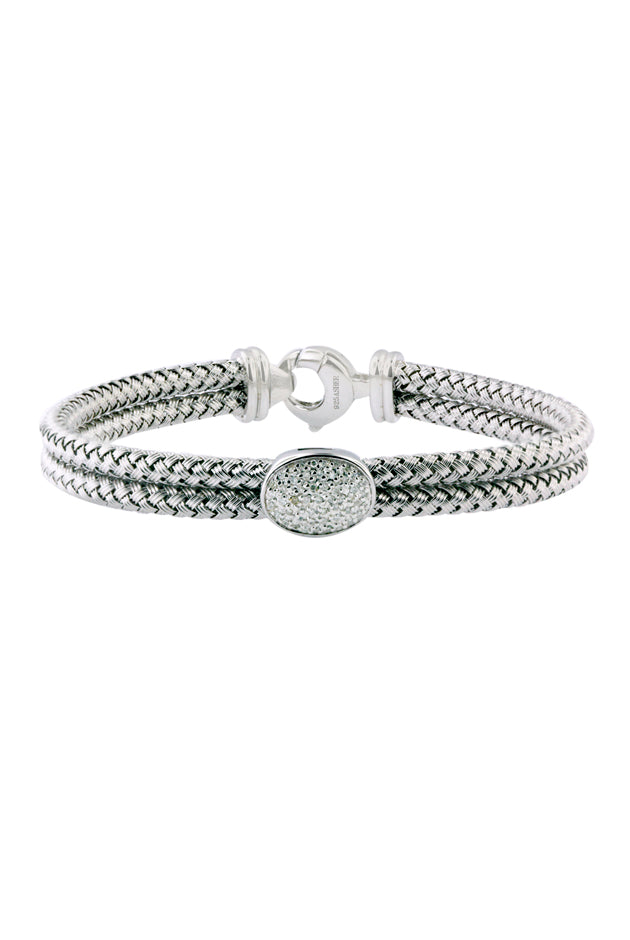 Effy 925 Sterling Silver and Diamond Bracelet, .15 TCW