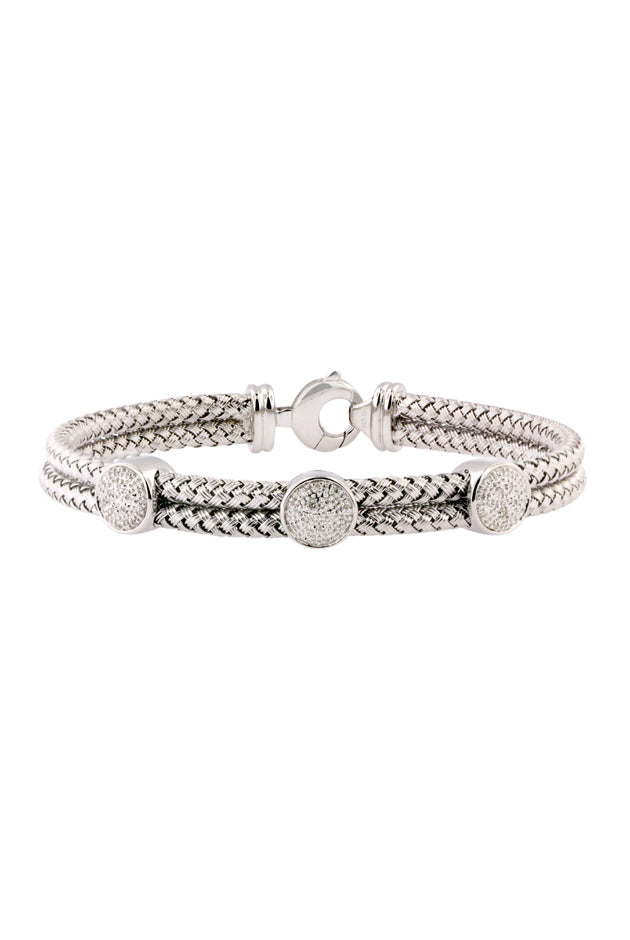 Effy 925 Sterling Silver and Diamond Bracelet, .12 TCW