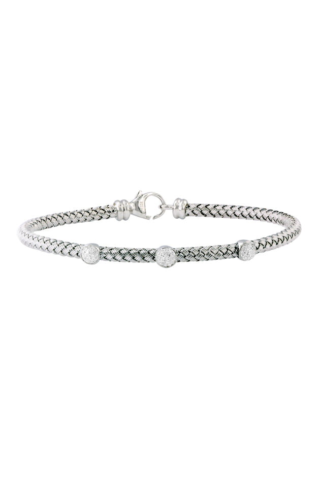 Effy 925 Sterling Silver and Diamond Bracelet, .19 TCW