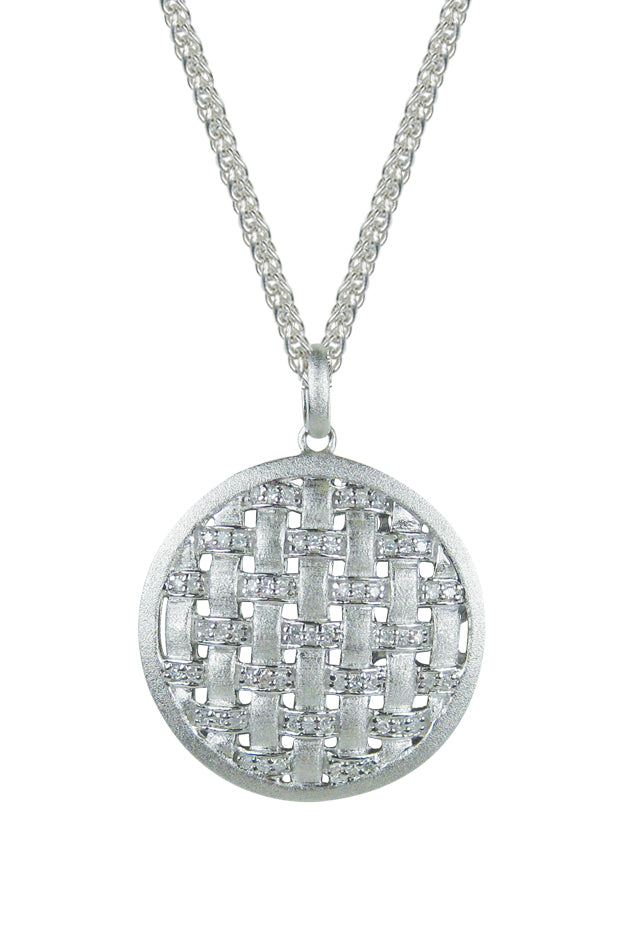 Effy 925 Sterling Silver and Diamond Pendant, .29 TCW