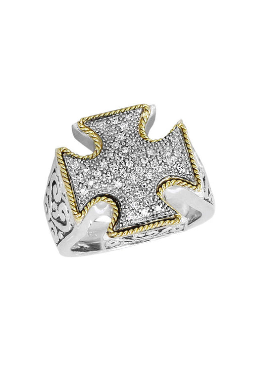 Balissima Diamond Maltese Cross Ring, .22 TCW