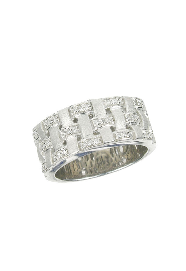 Effy 925 Sterling Silver Diamond Ring, 0.16 TCW