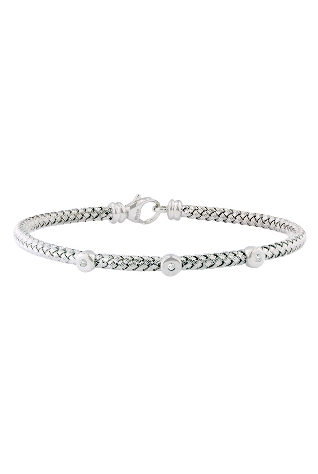 Effy 925 Sterling Silver and Diamond Bracelet, .04 TCW