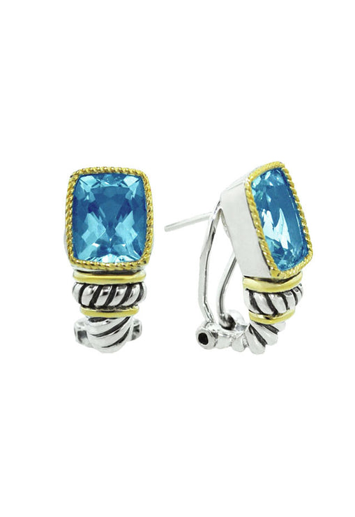 Balissima Blue Topaz Earrings, 7.00 TCW