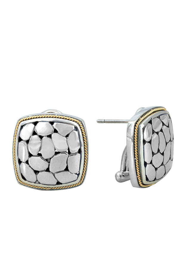 Effy 925 Sterling Silver and 18K Gold Earrings