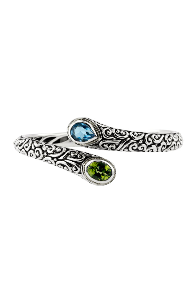 Effy 925 Sterling Silver Multi Gemstone Bangle, 3.80 TCW