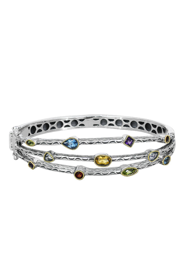 Effy 925 Multi Gemstone Bangle, 2.39 TCW