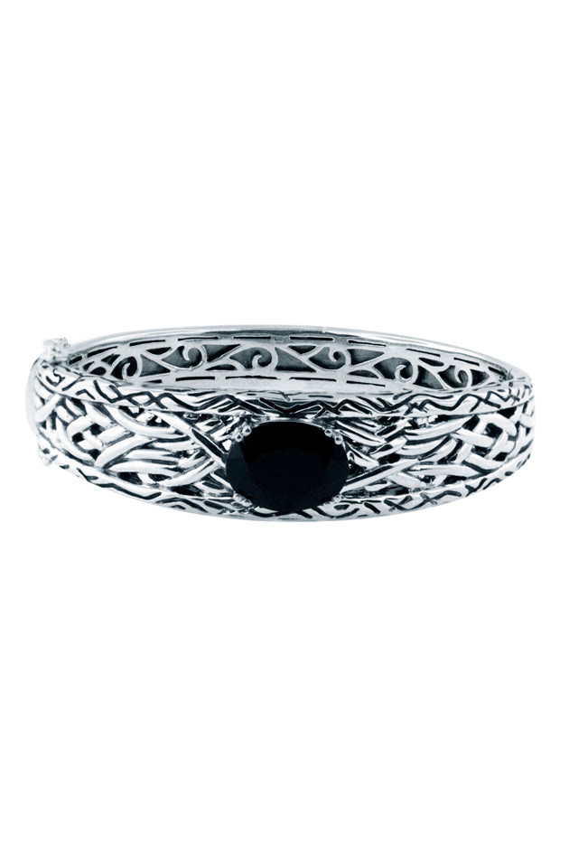 Effy 925 Lagoon Onyx Bangle, 6.84 TCW
